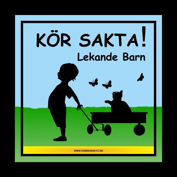 """Skylt """"Kör Sakta, Lekande Barn"""" På Landet"""