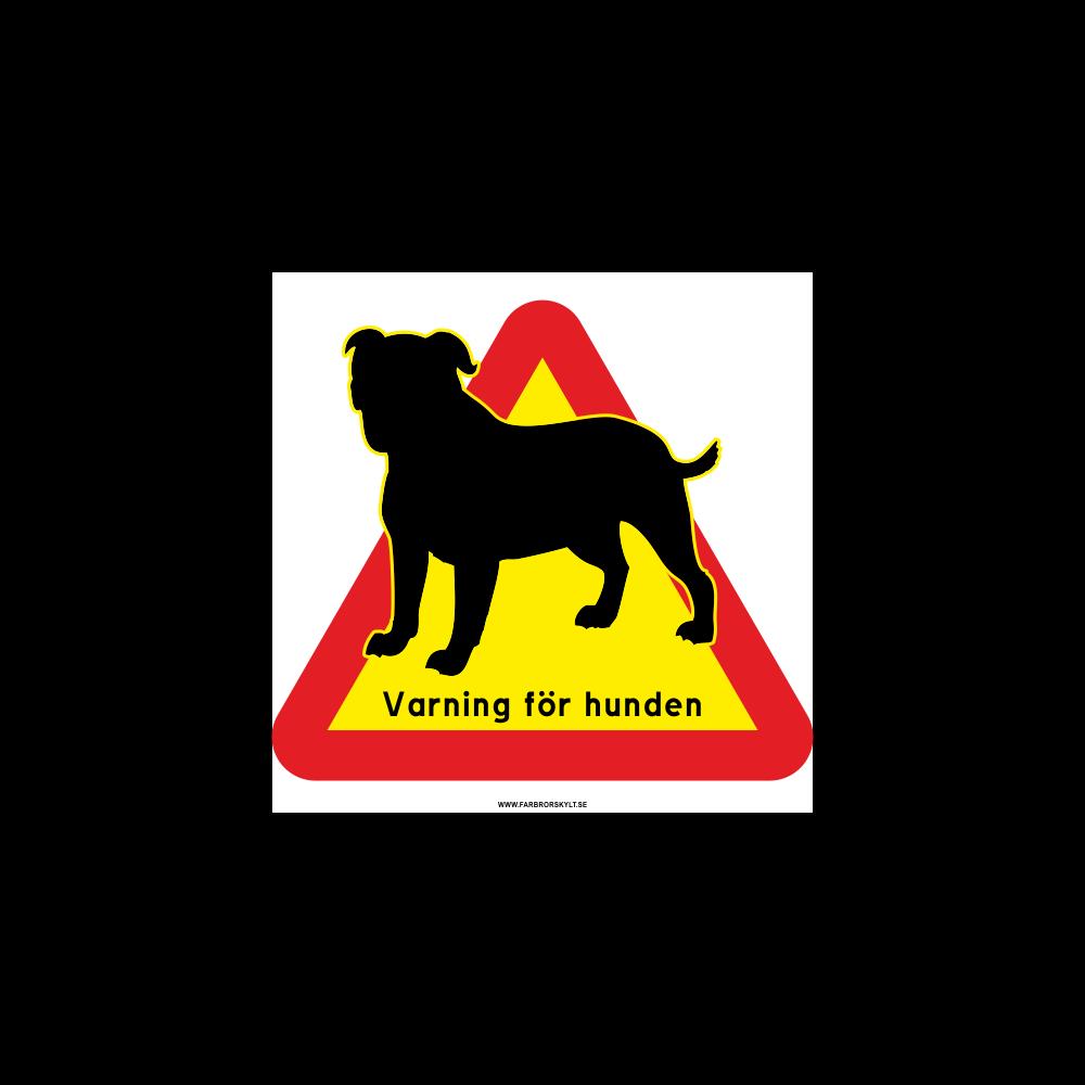 """Skylt """"Varning för Hunden"""" Bulldog"""