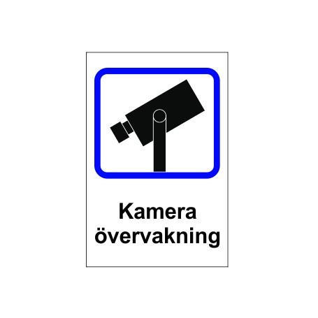 Varning Kamera övervakningsdekaler 200mmx300mm med klister