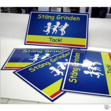 Skylt Stäng Grinden förskola 40x25cm
