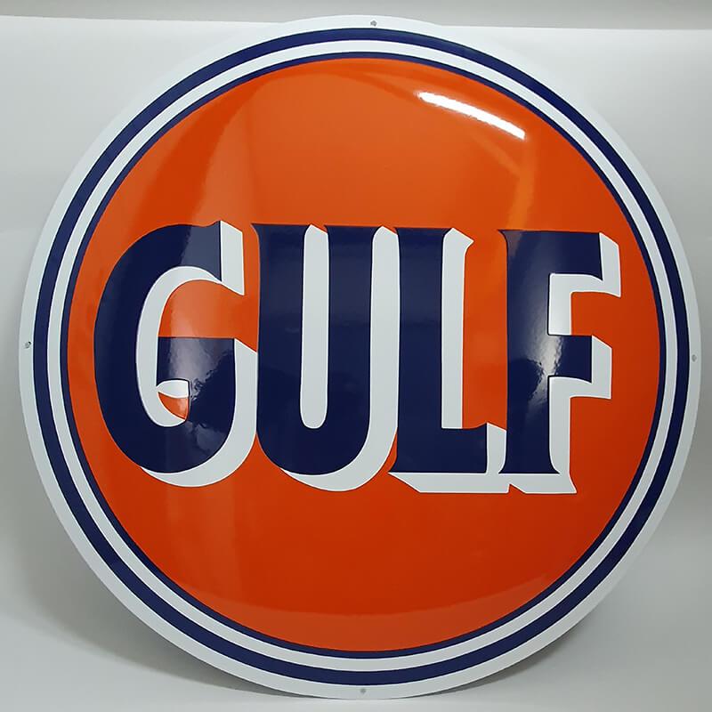 Stor Gulf emaljskylt